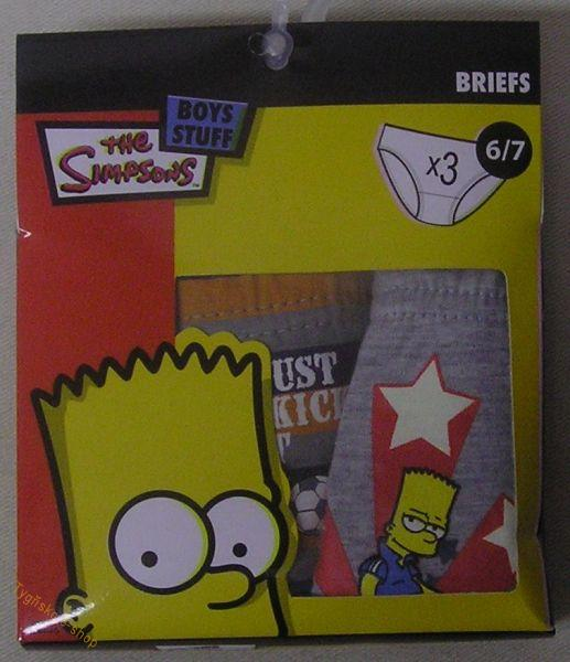 Slipy Bart Simpson 3ks vel.104/110